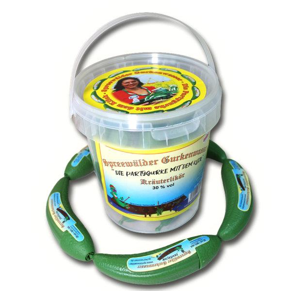 10 x Spreewälder Gurkenwasser Kräuterlikör 30% Vol. im Eimerchen