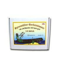 100 x Spreewälder Gurkenwasser Kräuterlikör 30% Vol. in Lochkartonage