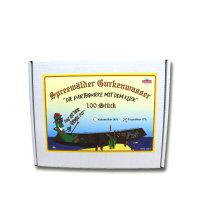 100 x Spreewälder Gurkenwasser Fruchtlikör 17% Vol. in Lochkartonage